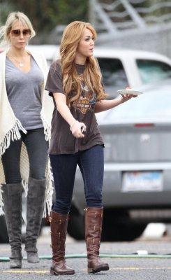 Miley sur le tournage de So undercover 15 et 16/12/10