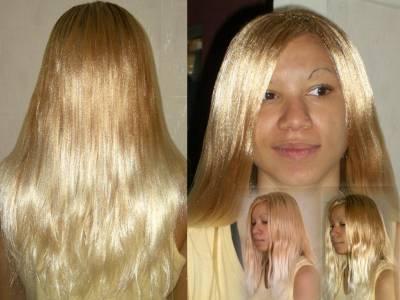 CoIfFuRe  aFrO (Davon972) rajout blond lissé à l'eau chaude