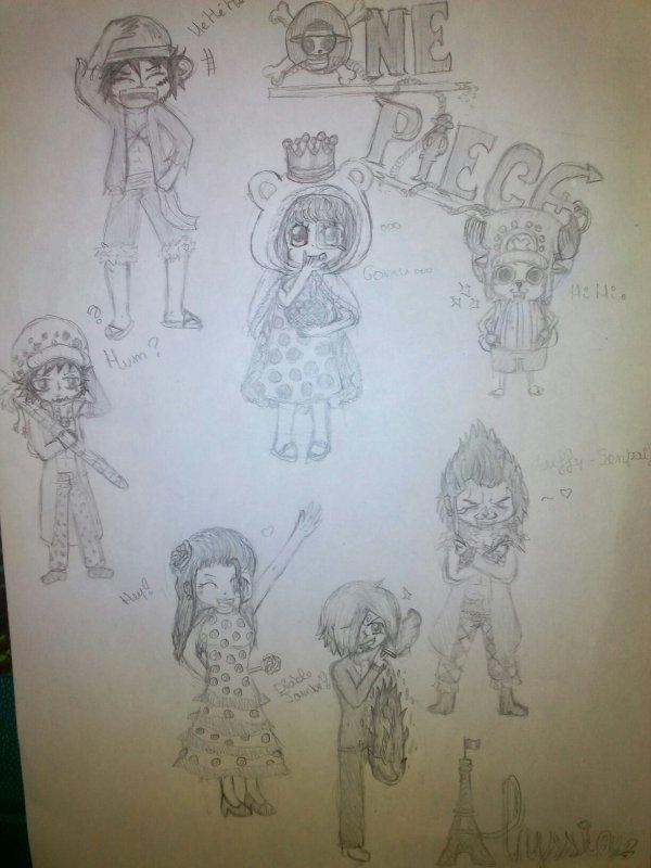Mes personnages de One Piece !