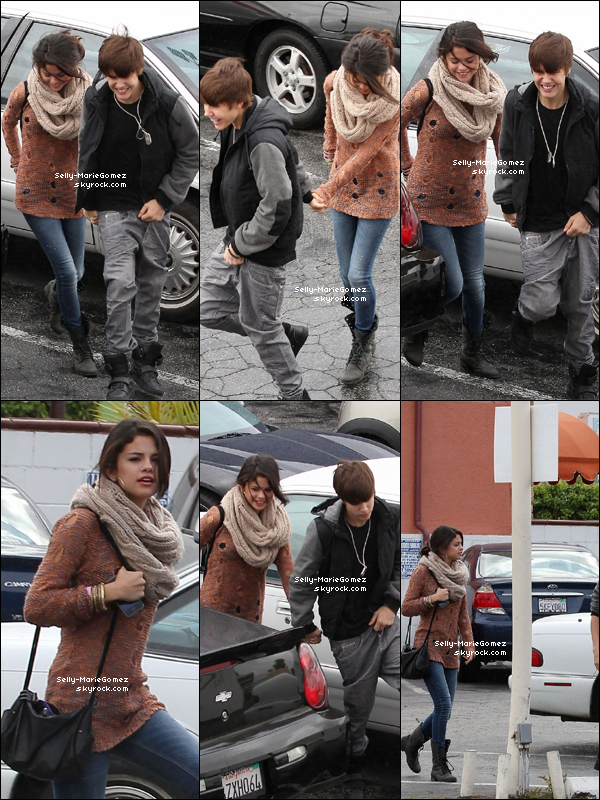 . Selena et Justin étaient à l'International House of Prayer à Encino, le 15 février. .