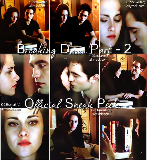 Breaking Dawn Part - 2 ♥ Sneak Peek !