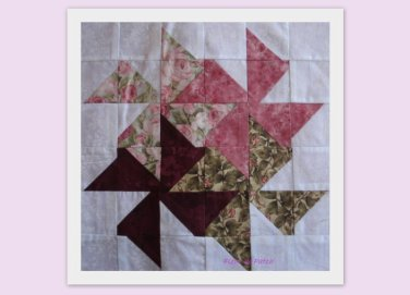 Patchwork - sampler 5 - Les moulins ou Square dance