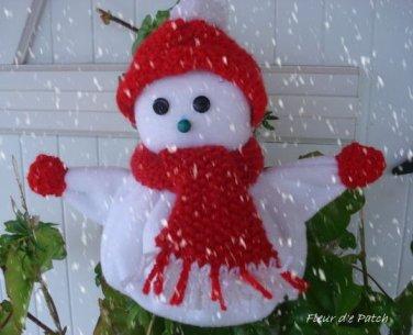 Bonhomme de neige rouge