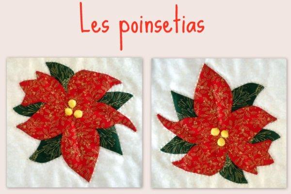 Patchwork chemin de table poinsetia fleur de patch - Chemin de table en patchwork ...