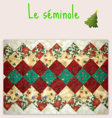 PATCHWORK - chemin de table poinsetia
