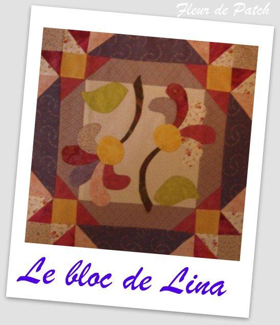Patchwork Appliqué - Le bloc de Lina