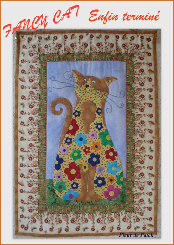 PATCHWORK  ET APPLIQUE - Fancy cat