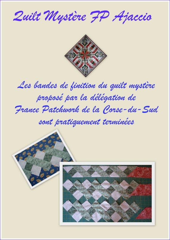 Quilt mystère de France Patchwork Corse du Sud