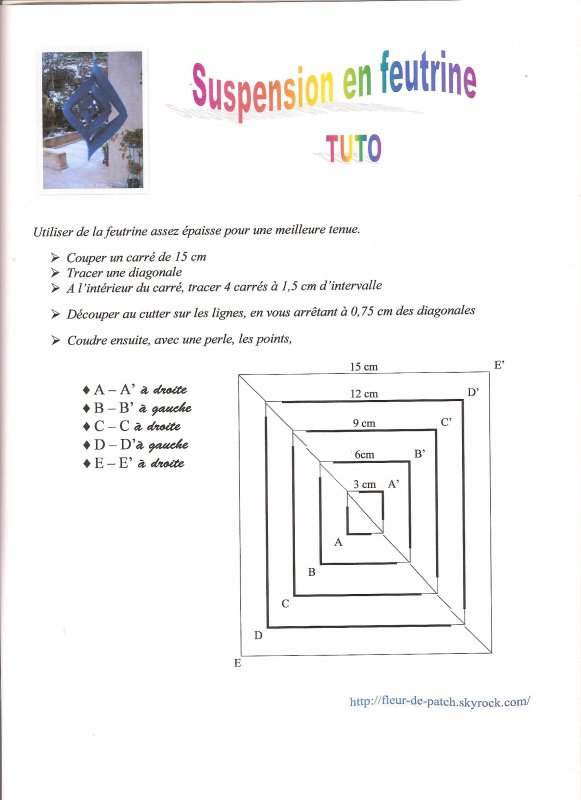 TUTO SUSPENSION FEUTRINE