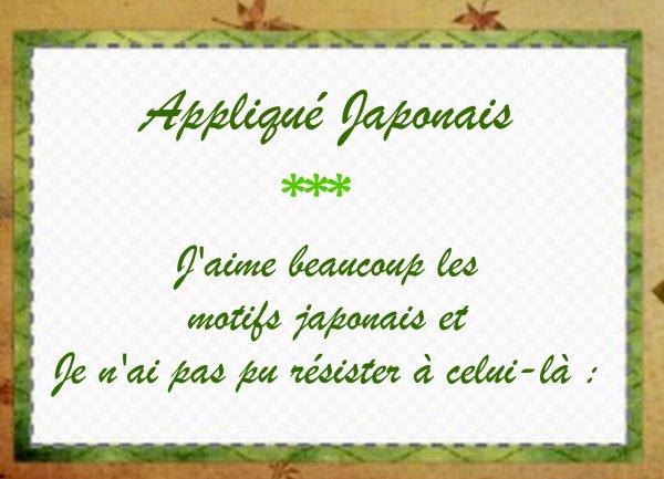 Appliqué Japonais