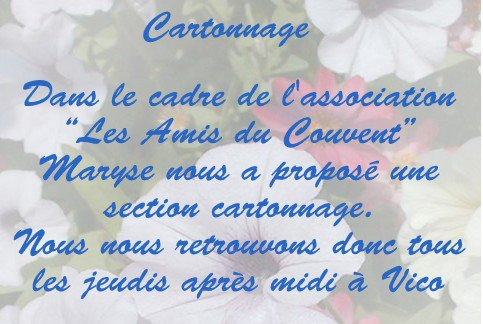 Cartonnage - le club
