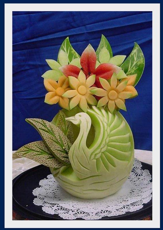 Fruits et légumes sculptés