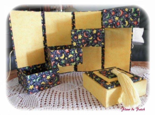 Cartonnage - boite échelle ouverte