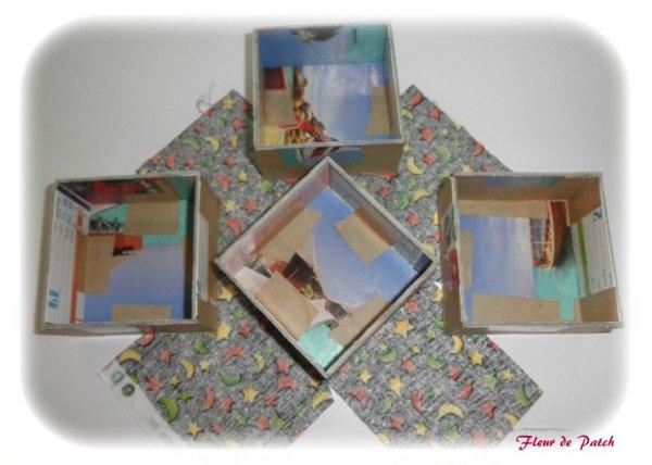 Cartonnage - boite échelle montage