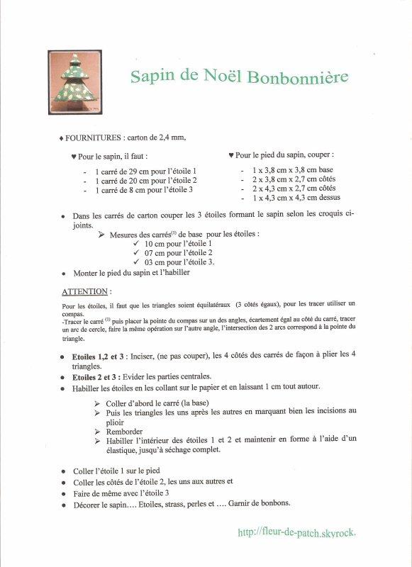 Cartonnage - Sapin de Noël - Bonbonnière - tutoriel