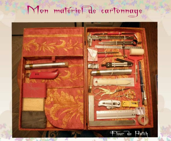 Cartonnage - boite  outils