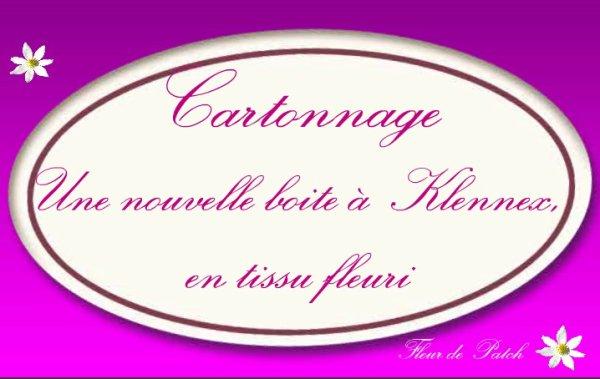 Cartonnage - Boite à Kleenex fleurie
