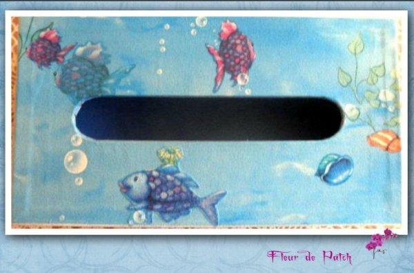 Cartonnage - Boite à Kleenex - poissons