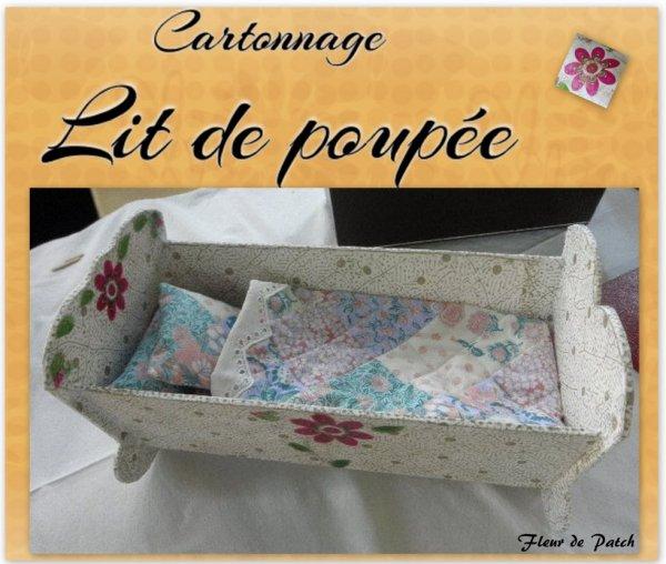 Cartonnage - Lit de poupée
