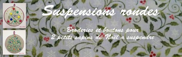 Suspensions rondes - Broderies et boutons