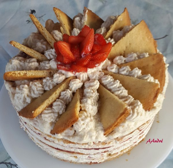 Patisserie - Gâteau aux noisettes