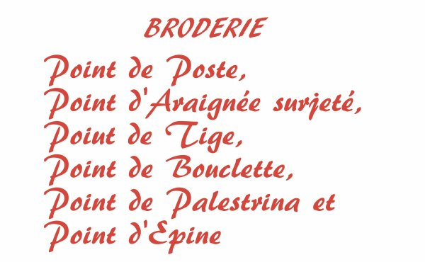 BRODERIE -