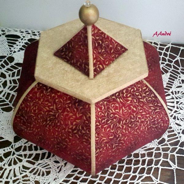 Cartonnage - nouvelle boite base hexagonale