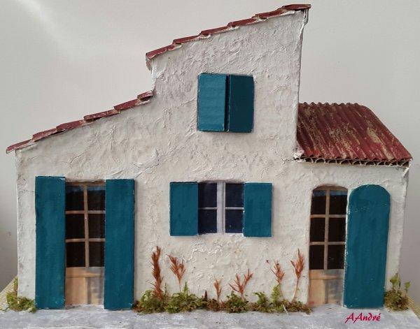 cartonnage - une maison pour la crèche