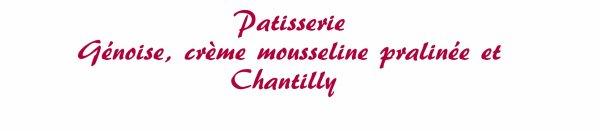 Patisserie - Mousseline pralinée