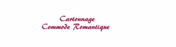 Cartonnage - commode rose
