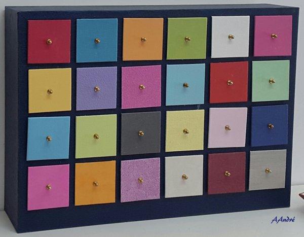 Cartonnage - Rangement des accessoires
