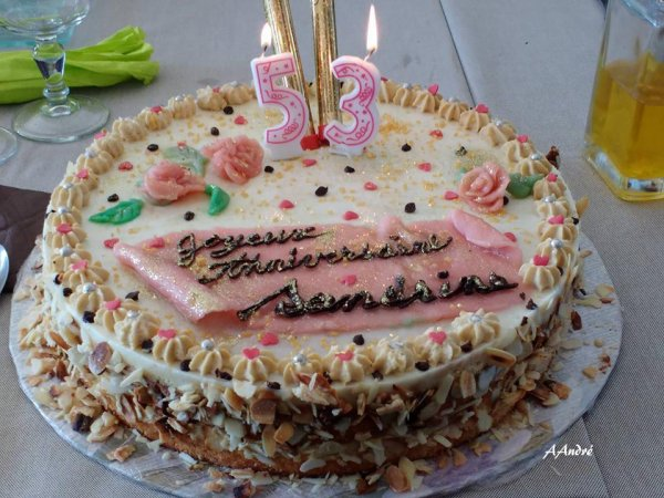 pâtisserie * gateau anniversaire Sandrine