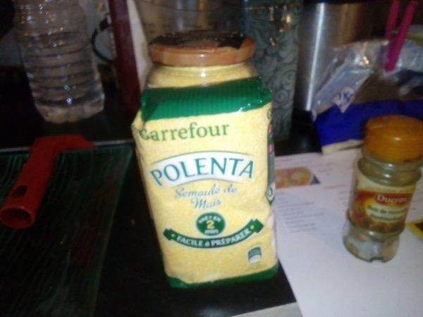 La Polenta Italienne a la mozzarella