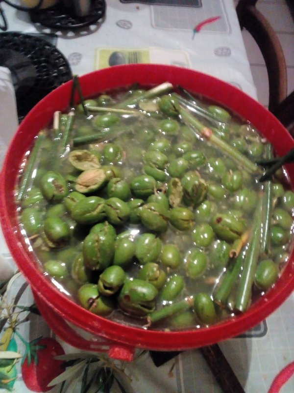 olives vertes cassees