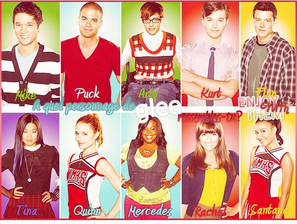 Les personnages de Glee