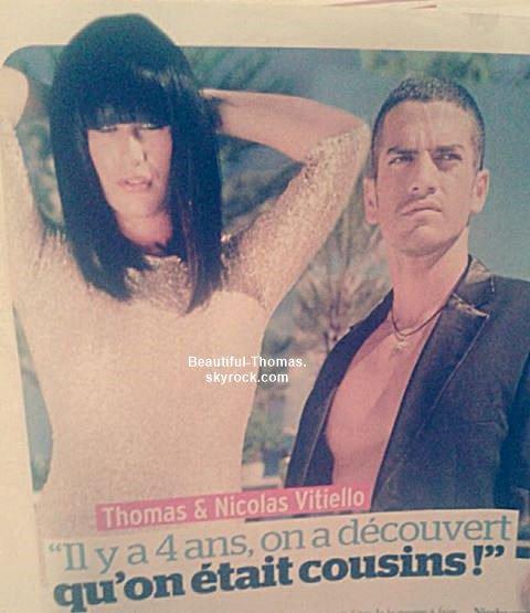 Thomas et son cousin dans le magazine Public de cette semaine