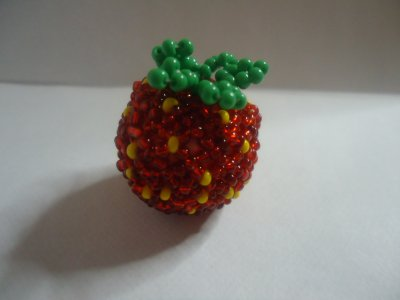 Petites fraises en perles
