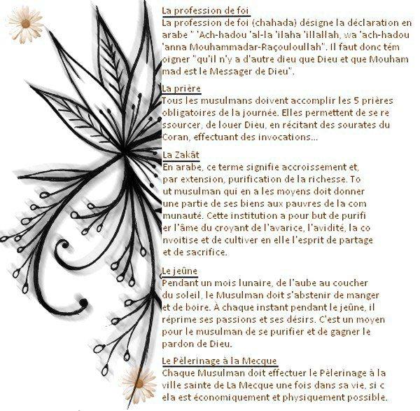 .  LES 5 PILLIERS DE L'Islam   .