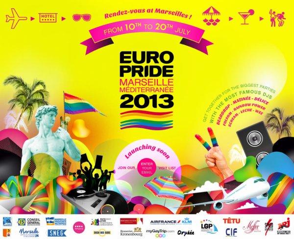 EuroPride® Marseille Méditerranée du 10 au 20 juillet 2013