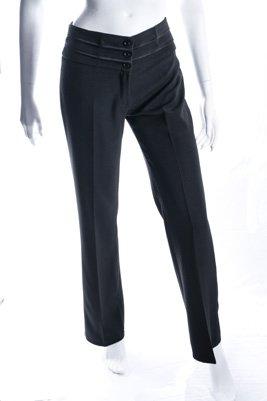 Pantalon classique noir bandes satinées 9¤ ht
