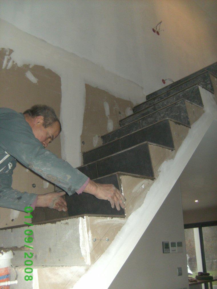 21 decembre 2013 carrelage escalier auto construction de for Alain carrelage labege