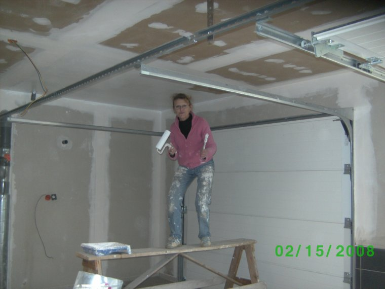 9 Fevrier 2014 Peinture Garage - Auto Construction De Notre Maison
