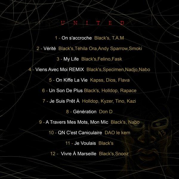 "MixTape ""UNITED Vol 1"" / BLACK'S - Vérité feat. SMOKI, TEHILA ORA, ANDY SPARROW (2015)"