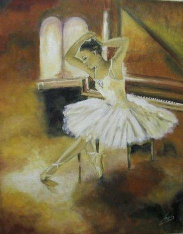 Danseuse Classique Peinture A L Huile De Marie C D