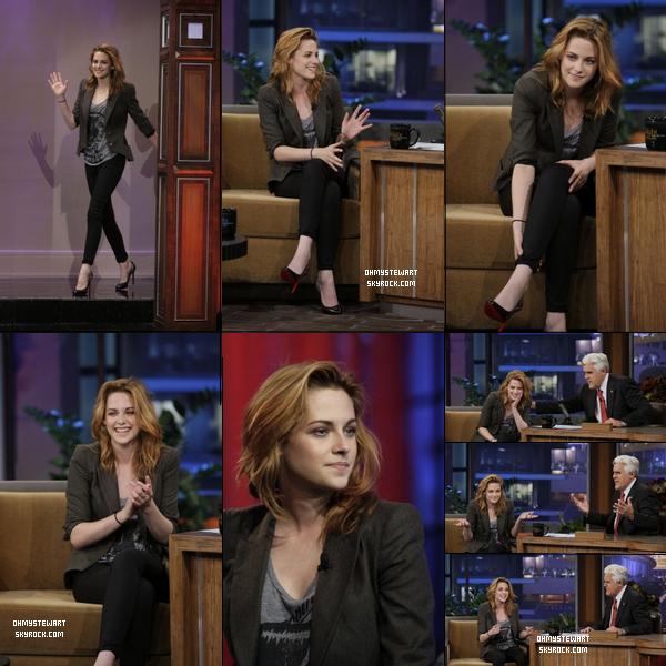 """Catégorie ; Public Apparence.   ♦ 08 0ctobre 2010 . Kristen a Participé a L'émission """"  The Tonight Show with Jay Leno """" , Hier Soir."""