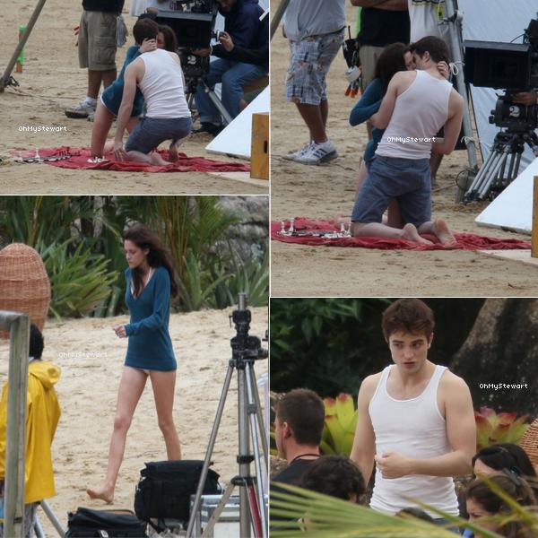 Catégorie ; Tournage 16/11 ♦ De nouvelles photo du tournage au Brésil sont apparues. 0n voit Kristen & Robert s'embrasse.. Il promet d'y avoir plein de bisous dans ce Film ! ♥