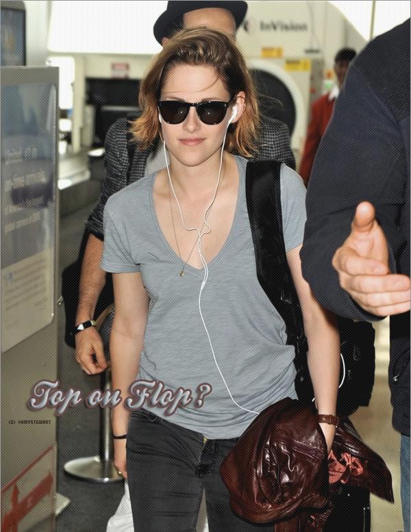 Comment trouvez vous la tenue de Kristen, Top ou Flop ?  Perso : J'adore ! Je trouve Kristen SUBLiME ! C'est vraiment un gros coup de coeur ! Il faut que Je me trouves sa :)