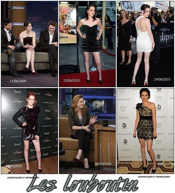 Article en Collaboration avec Krisenstewart ♥   Kristen a beaucoup porter de chaussure Louboutin lors des avant premiere et emission. Cependant vous préféré quel moment ?
