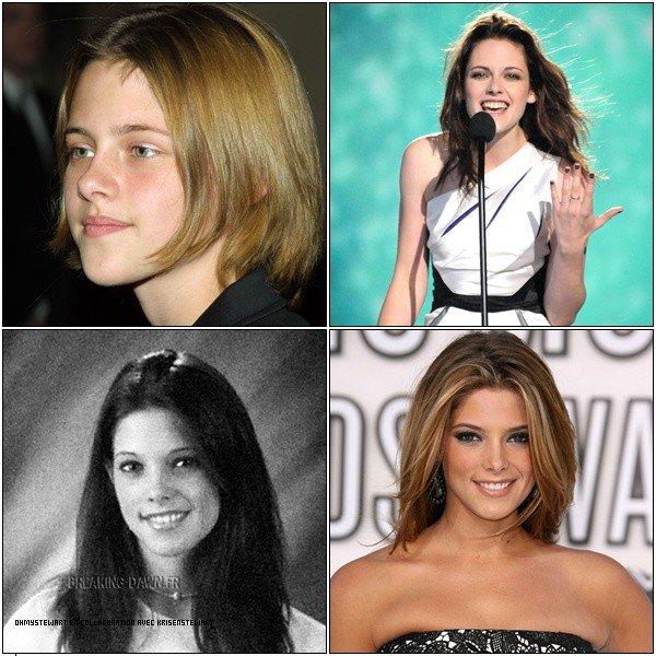 Article ne Collab avec KrisenStewart :  Depuis déjà leurs plus Jeunes âges elles sont Jolies mais qui est devenue la plus belle Femme ?