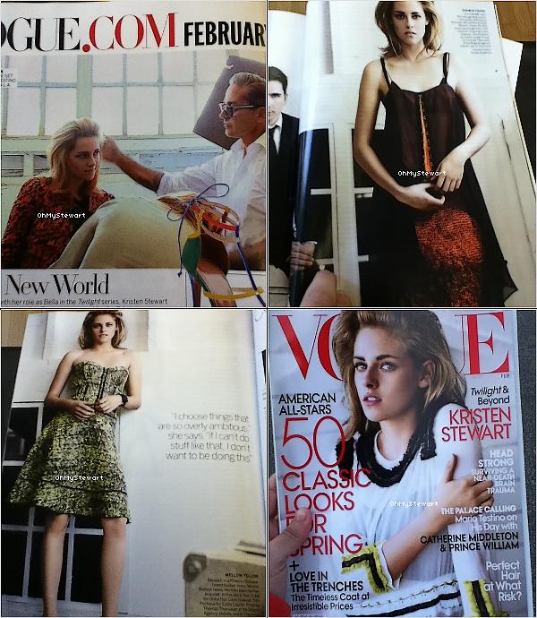 ● PHOTOS : . Découvrez de magnifique photos de Kristen dans le magazine « Vogue. » Je mettrais les scans à la place quand ils arriveront. Je l'a trouve sublime & vous ?  .